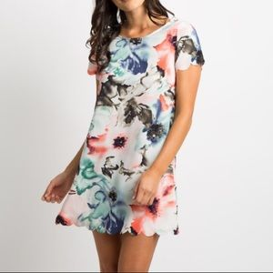 PinkBlush abstract floral dress